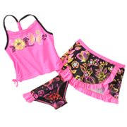 ZeroXposur Papillon 3-pc. Tankini Swimsuit Set - Girls 4-6x