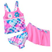ZeroXposur Windsurf 3-pc. Tankini Set - Girls 4-6x