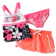 ZeroXposur Silver Bells 3-pc. Tankini Set - Girls 4-6x