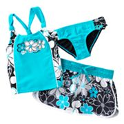 ZeroXposur May Flowers 3-pc. Tankini Set - Girls 4-6x