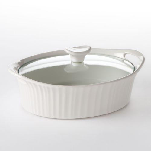 Corningware French White 1 1 2 Qt Oval Casserole Dish