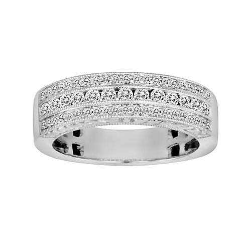 14k White Gold 1/2-ct. T.W. IGL Certified Diamond Wedding Ring
