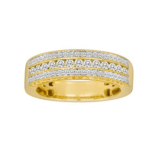 14k Gold 1/2-ct. T.W. IGL Certified Diamond Wedding Ring