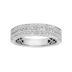 14k White Gold 1/2 Carat T.W. IGL Certified Diamond Wedding Ring
