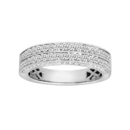14k White Gold 1/2-ct. T.W. IGL Certified Diamond Wedding Ring