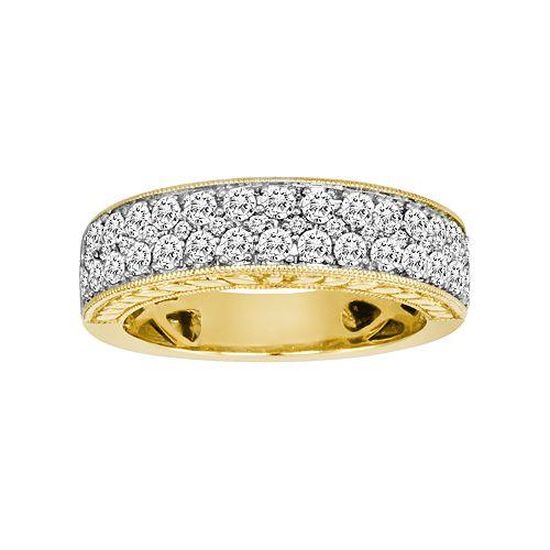 14k Gold 1-ct. T.W. IGL Certified Diamond Wedding Ring