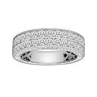 14k White Gold 1 ctT.W. IGL Certified Diamond Wedding Ring