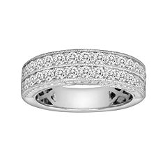14k White Gold 1-ct. T.W. IGL Certified Diamond Wedding Ring