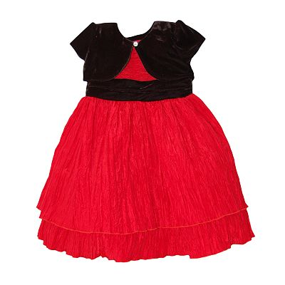 Blueberi Boulevard Tiered Crinkle Dress and Cardigan Set - Girls 4-6x