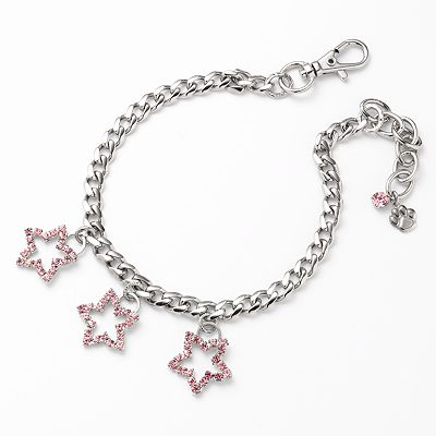 Silver Tone Simulated Crystal Star Charm Pet Collar
