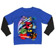 Angry Birds Space Zipline Mock-Layer Tee - Boys 8-20