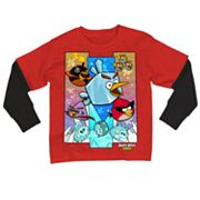 Angry Birds Space Iced Group Mock-Layer Tee - Boys 8-20