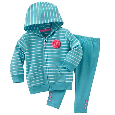 Carter's Striped Cardigan and Leggings Set - Baby