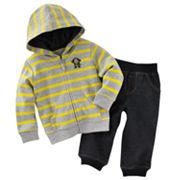 Carter's Monkey Striped Cardigan and Pants Set - Baby