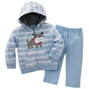 Carter's Dog Striped Cardigan and Pants Set - Baby
