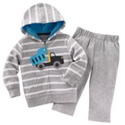 Carter's Truck Striped Cardigan and Pants Set - Baby