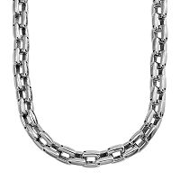 Stainless Steel Square Link Chain Necklace - 24 in - Men