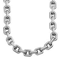 Stainless Steel Anchor Link Chain Necklace - 24 in - Men
