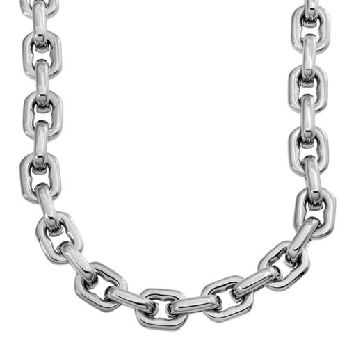 Stainless Steel Anchor Link Chain Necklace - 24-in. - Men