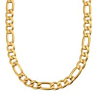 Yellow Immersion-Plated Stainless Steel Figaro Chain Necklace - 24 in - Men