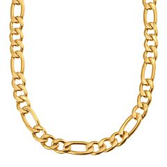 Yellow Immersion-Plated Stainless Steel Figaro Chain Necklace - 24-in. - Men