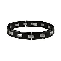 Tungsten & Black Ceramic Bracelet - Men