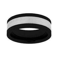 Tungsten & Black Ceramic Wedding Band