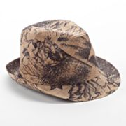 Apt. 9 Abstract Floral Straw Fedora