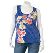 Apt. 9 Floral Sequin Tank - Women's Plus