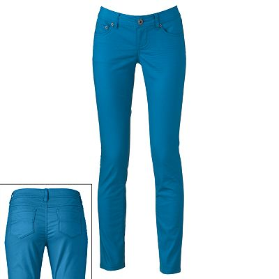SO Iridescent Color Skinny Jeans - Juniors