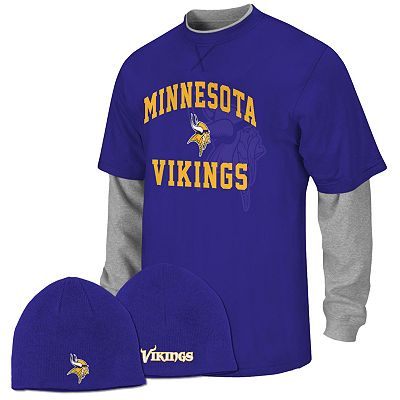 Minnesota Vikings Mock-Layer Tee and Knit Cap Set - Boys 8-20
