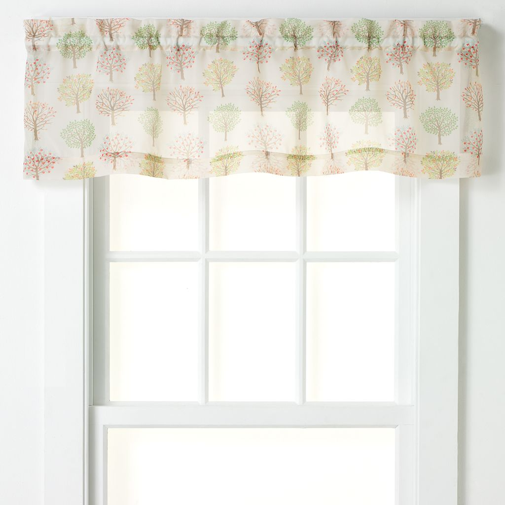 CHF Sheer Orchard Tree Tailored Kitchen Valance - 56'' x 14''