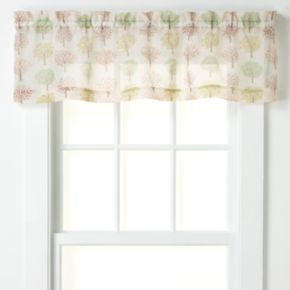 CHF Sheer Orchard Tree Tailored Kitchen Window Valance - 56'' x 14''