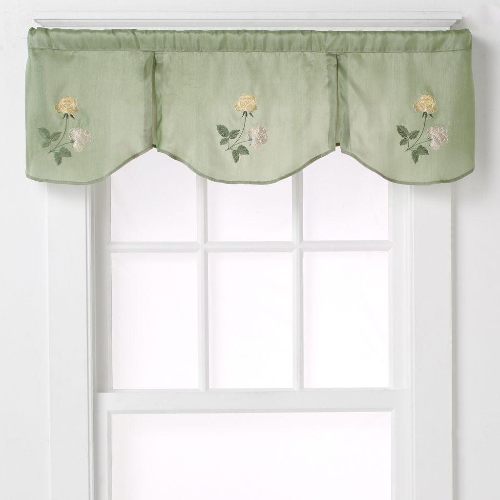 CHF Rose Inverted Pleat Window Valance - 50'' x 14''