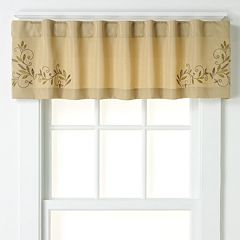 CHF Scroll Leaf Tailored Window Valance - 58'' x 14''