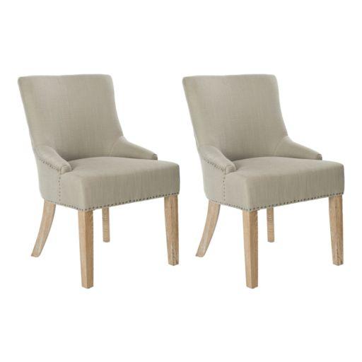 Safavieh 2-pc. Lotus Gray Side Chair Set