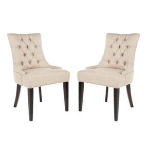 Safavieh 2-piece Abby Tufted Side Chair Set