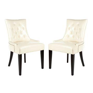 Safavieh 2-piece Abby Cream Side Chair Set