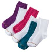 GOLDTOE 6-pk. Textured Crew Socks - Girls