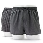 Apt. 9 2-pk. Slim-Fit Low-Rise Gingham Checked Woven Boxers