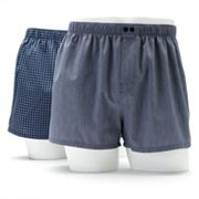 Apt. 9 2-pk. Slim-Fit Low-Rise Plaid Woven Boxers