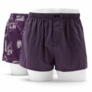 Apt. 9 2-pk. Slim-Fit Low-Rise Train Woven Boxers