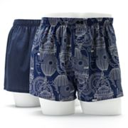 Apt. 9 2-pk. Slim-Fit Low-Rise Woven Boxers