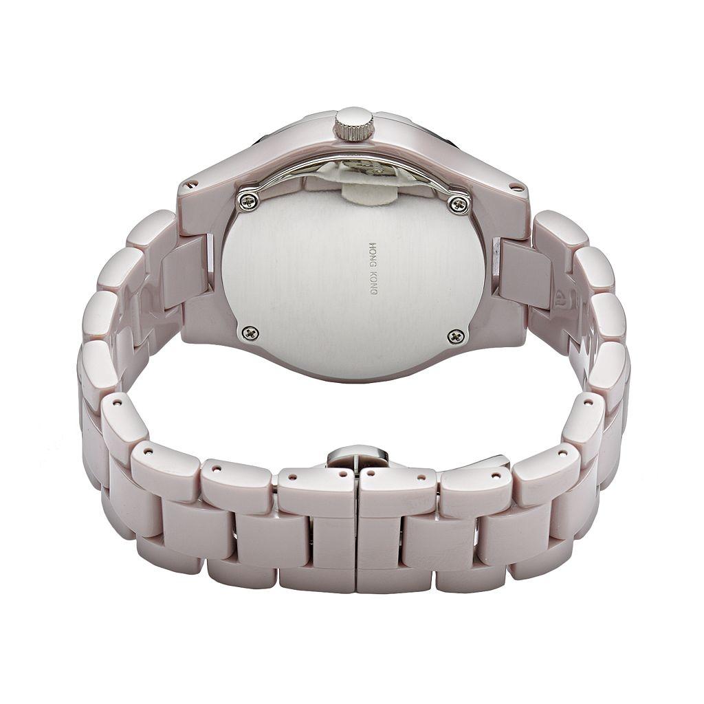Jennifer Lopez Women's Crystal Ceramic Chronograph Watch