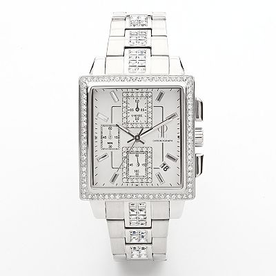 Jennifer Lopez Stainless Steel Crystal Chronograph Watch - Women
