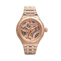 Jennifer Lopez Women's Crystal Stainless Steel Automatic Skeleton Watch
