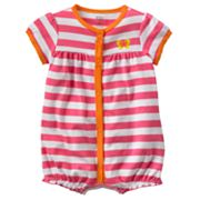 Carter's Butterfly Striped Turn Me Around Creeper - Baby