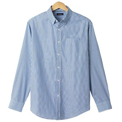 Croft and Barrow Easy-Care Striped Casual Button-Down Shirt
