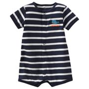 Carter's Whale Striped Turn Me Around Creeper - Baby