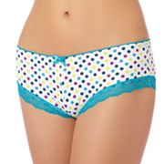 St. Eve Polka-Dot Lace-Trim Hipster